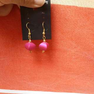 Hot Pink Earrings From Tree Of Life