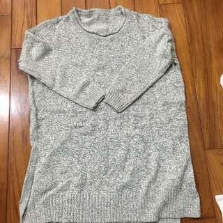 長版針織下擺開衩毛衣💕