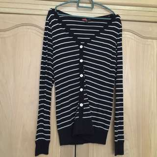 Forever 21 Stripe Cardigan