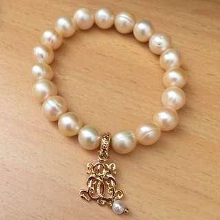Bowerhaus/Bower Haus Champagne Ringed Freshwater Pearls