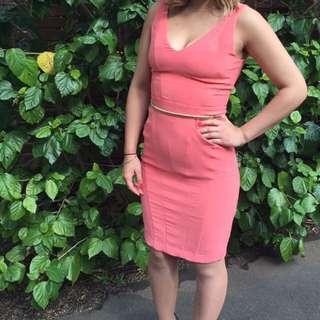 Sheike Peach Dress Size 10