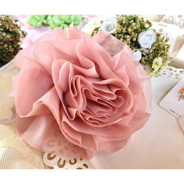 【展示品】韓國花造型別針夾出清$150(可夾包包上or別在衣服上當裝飾)