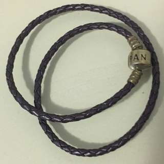 Pandora Purple Woven Leather Bracelet