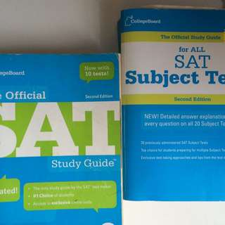 The Official SAT Guide and The Official Guide For All SAT Subject Tests
