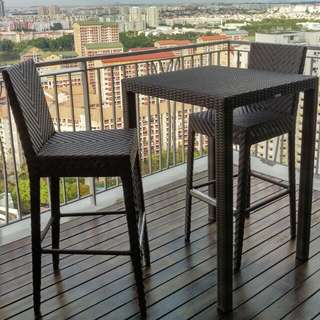 Outdoor Bar Table With Chairs