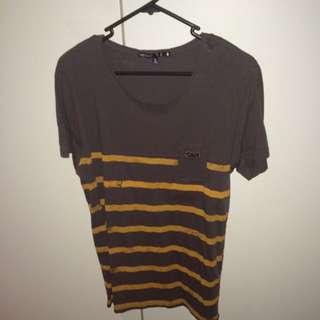 Small Rhythm Striped T-Shirt w/Breast Pocket