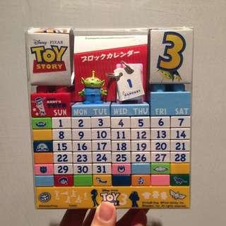玩具總動員3 三眼怪萬年蹟木日曆