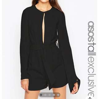 ASOS TALL Playsuit With Tie Waist