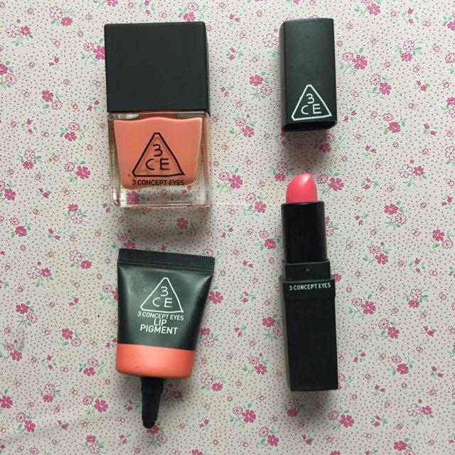 3CE美妝產品