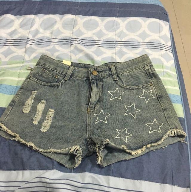 星星牛仔短褲