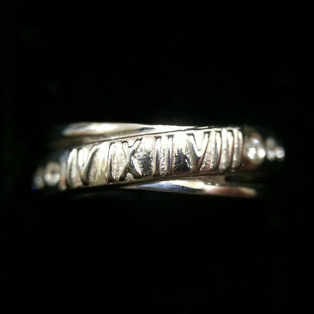 實拍💍全新羅馬數字925純銀戒指