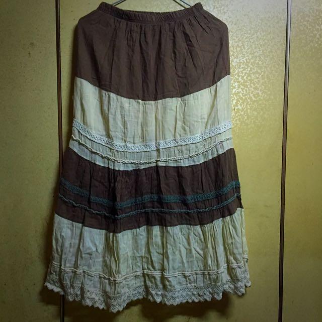 二手香草可可色長裙