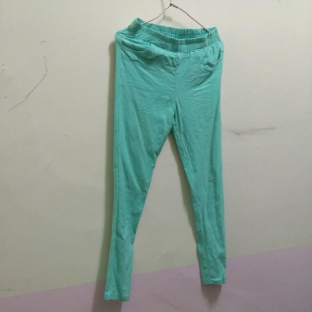 【含運】蒂芬尼綠色彈性褲