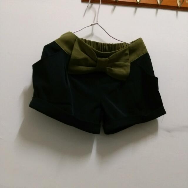 【含運】黑色蝴蝶結短褲