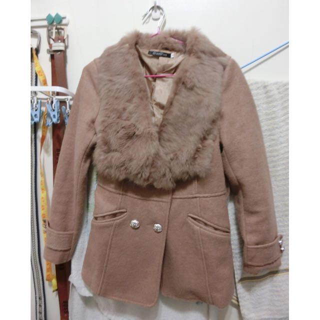 駝色毛呢大衣🙋🏻🙋🏻 附腰帶