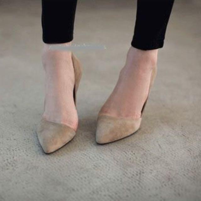 高跟鞋 尖頭鞋 裸色  35號 34號