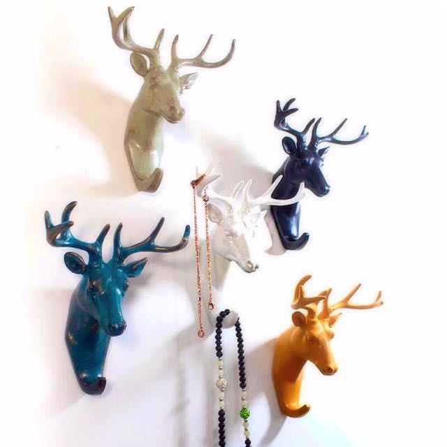 美式鄉村風🇺🇸 鹿頭掛飾 🐐 風格家飾就靠小物大加分 ✨掛勾 掛飾 文創家飾 家居