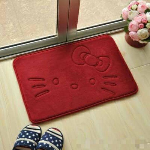 <紅色下單區> 凱蒂貓 KT 卡通 卡哇伊 吸水地墊 寵物地墊