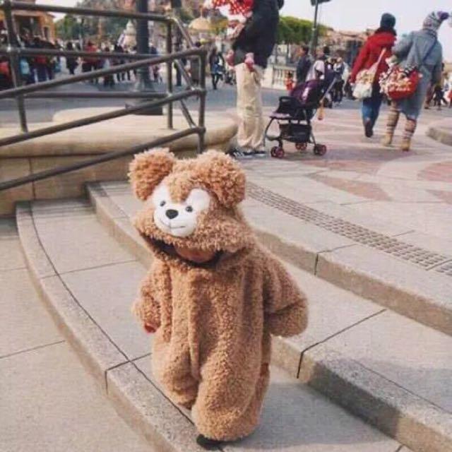現貨! 迪士尼duffy熊裝  達菲熊童裝小熊寶寶連體睡衣  便宜賣 790元  120cm  約4.5歲穿  #達菲熊衣 #免運費 #達菲熊 #童裝