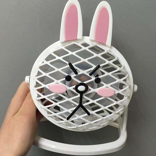 (含運)全家 愛耍LINE 兔兔 涼涼扇