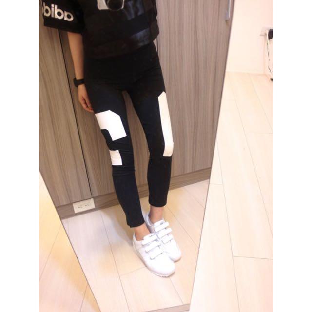 adidas Originals 愛迪達 三葉草 黑白 #03 內搭褲 打板褲 LEGGI aj8869