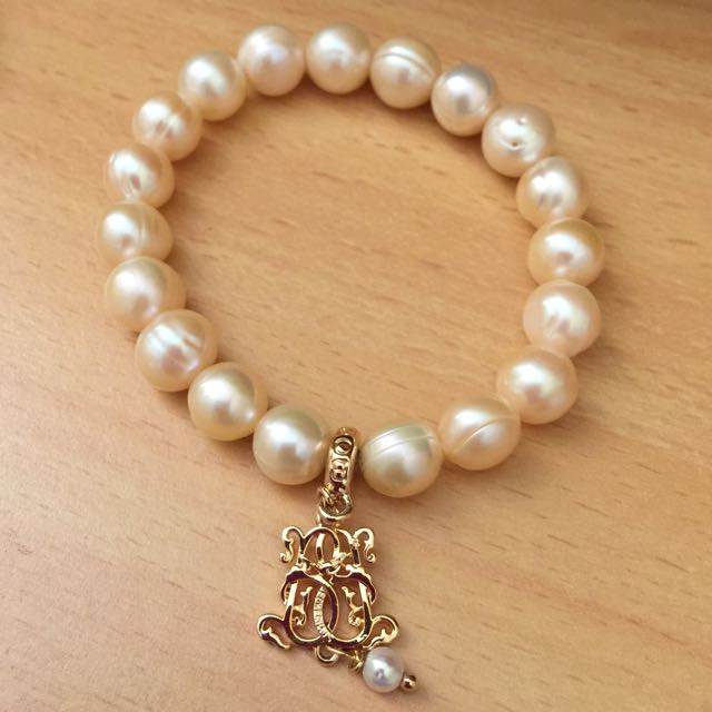 Bowerhaus/Bower Haus Champagne Ringed Freshwater Pearls