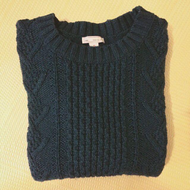 Gap 墨綠色針織毛衣