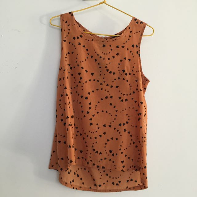 Heart patterned top S