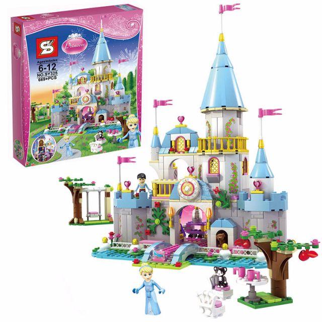 iBebe*現貨$950 灰姑娘 仙杜瑞拉的浪漫城堡 669片積木/迪士尼公主系列/可相容樂高LEGO