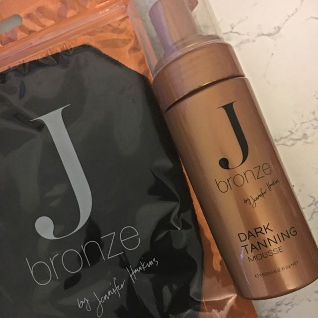 JBronze Dark Tanning Mousse + Exfoliating Glove
