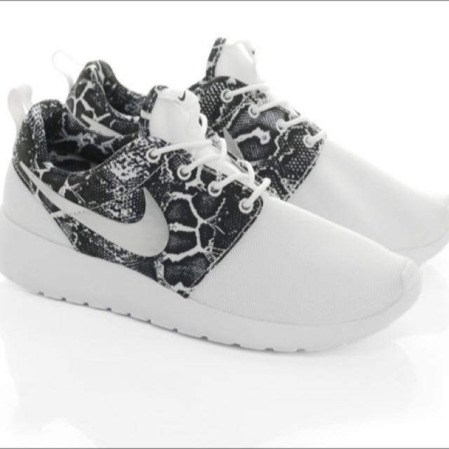super popular 27d80 d2c65 coupon code for nike roshe one print snakeskin black silver white womens  running shoes 599432 97826 33851  france nike roshe one print snakeskin  white ...