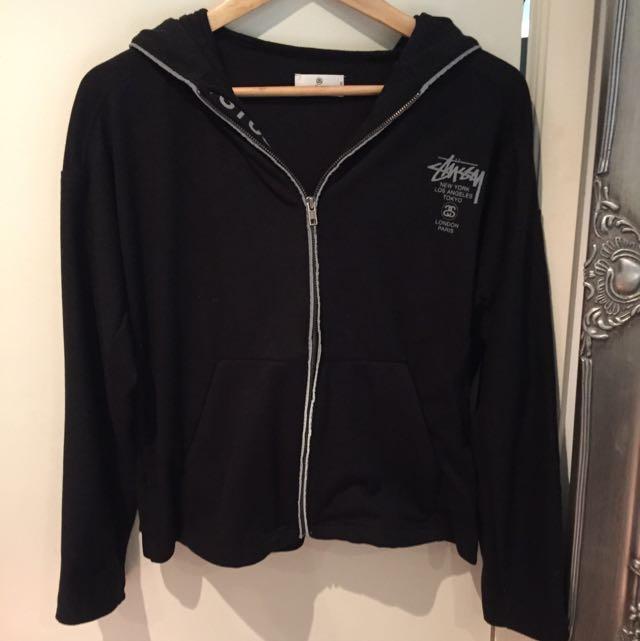 stussy jacket with hood