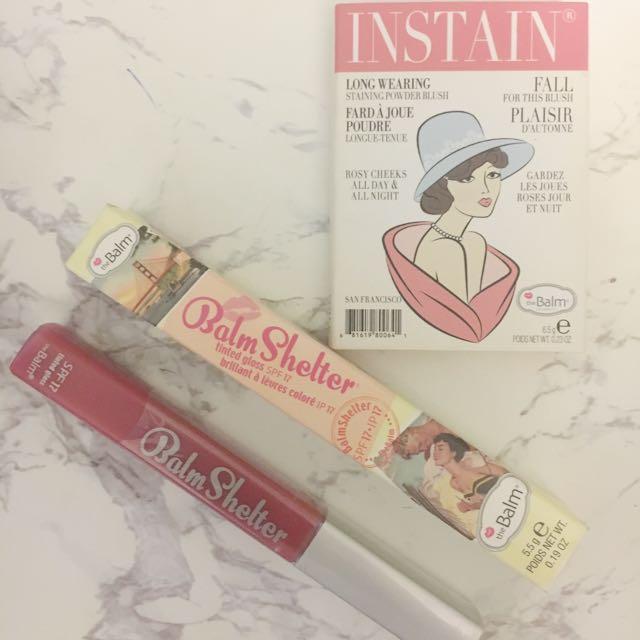 The Balm Cosmetics- Blush & Lipgloss