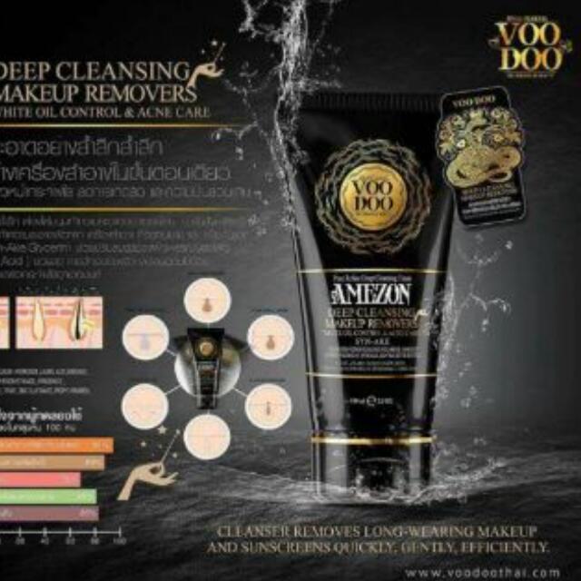 泰國Voodoo洗臉卸妝兩用深層洗面乳 不留殘妝100ml