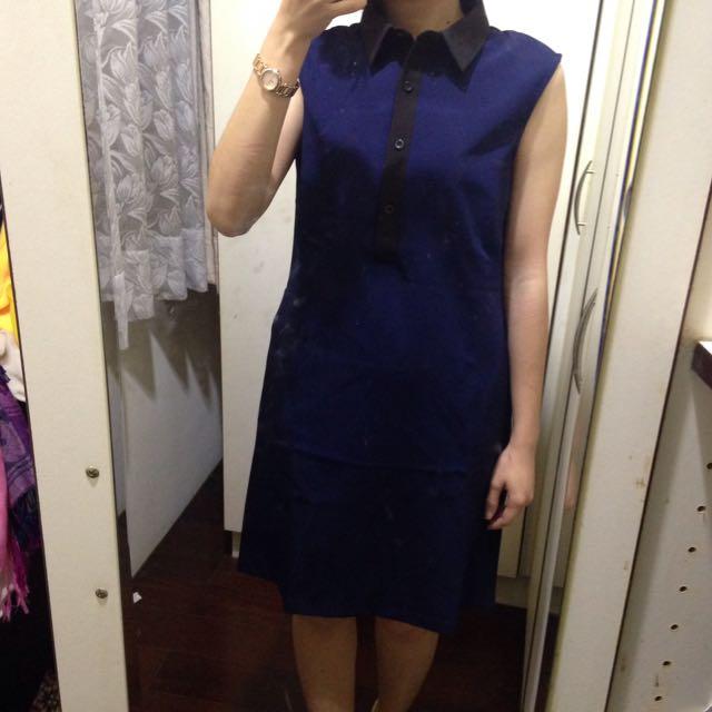 Zalora 背心裙/洋裝/領子/無袖