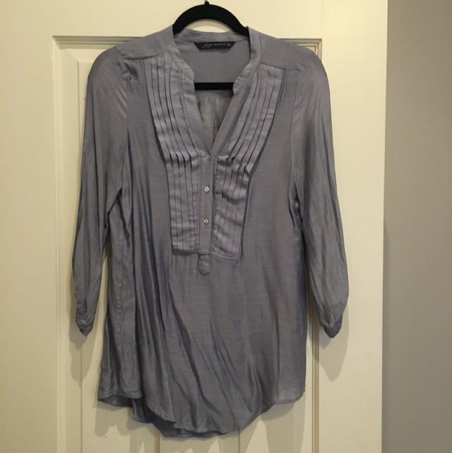 Zara S Silk Shirt - Tunic