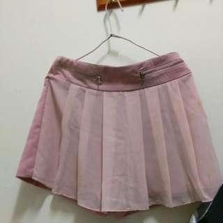韓版粉紅色褲裙