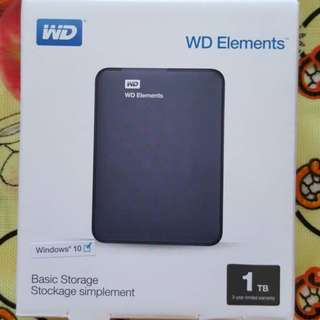 *NEW* WD External Portable Hard Disk 1 TB