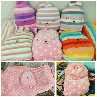 Cute Plushy Pillows (With Soft Blanket and Handwarmer)