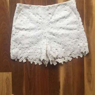 Lace High Waist Shorts (10)