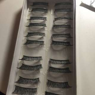 10 PAIRS LASHES (THICK NATURAL) No.047 ON HOLD