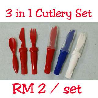 3 In 1 Cutlery Set