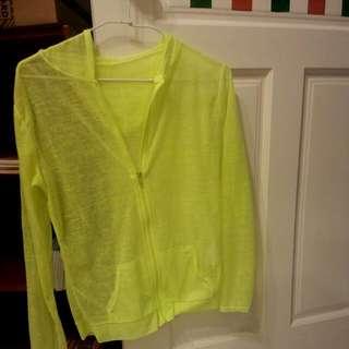 caco螢光綠薄外套