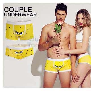 Sponge Bob Man Couple Underwear Boxer Trunk Gift Cartoon