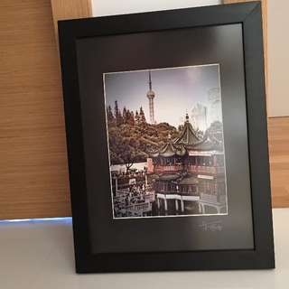 Two Beautifully Framed Photograph of Shanghai motive