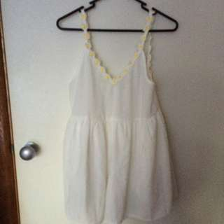 White Daisy Play suit