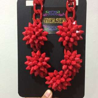 Red Spikey Necklace