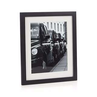 Crate & Barrel - Picture Frame Matte Black - holds 20x25cm photo
