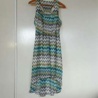 Zigzag Flowy Dress S/8