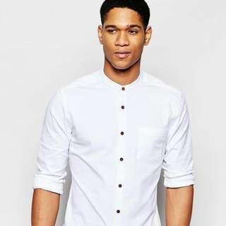 ASOS® (BN) Granddad Collar Skinny Shirt